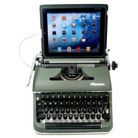 USB Typewriter Computer Keyboard -- Olympia Deluxe c. 1940