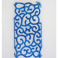 Metallic Blue Vine iPhone5 Cover
