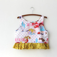 cabbage patch kid crop top