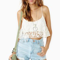 Moon Child Crop Tank - Ivory