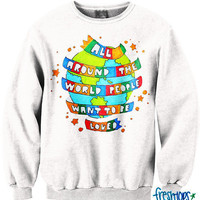 All around the World CrewNeck | fresh-tops.com