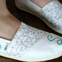 Just Married / Wedding / Honeymoon Custom TOMS Shoes