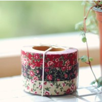 Antique Flower Pattern Fabric Tape