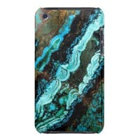 Azurite Malachite Gemstone iPod Touch Case from Zazzle.com