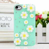 Daisy Flower Rhinestone iPhone Case for Summer