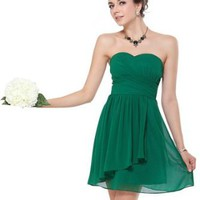 Amazon.com: Ever Pretty Ruffles Empire Line Chiffon Padded Short Cocktail Dress 03647: Clothing