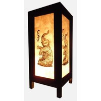 Amazon.com: Thai Vintage Handmade Asian Oriental Elephant Bedside Table Light or Floor Wood Paper Lamp Shades Home Bedroom Garden Decor Modern Design from Thailand: Home Improvement