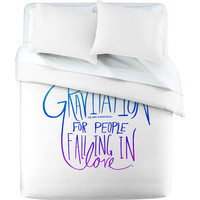 DENY Designs Home Accessories | Leah Flores Gravitation White Duvet Cover