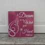 A Dream Is A Wish Your Heart Makes 12x12 Wood Sign