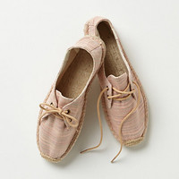Linen Lace-Up Espadrilles
