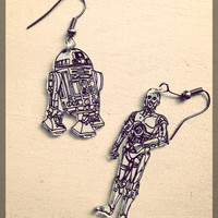 Star wars earrings - C3PO & R2D2