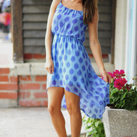 Polka Dot Perfection Dress: Purple/Blue | Hope&#x27;s