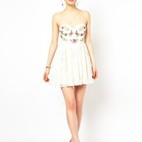 Ginger Fizz Lace Dress with Embroidery at asos.com