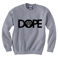 Custom DOPE Daimond Lil Wayne Obey YMCMB Sweatshirt Crewneck Unisex (Size S &amp; M) DP01