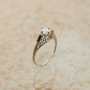 Antique 18K Diamond and Sapphire Filigree by SITFineJewelry