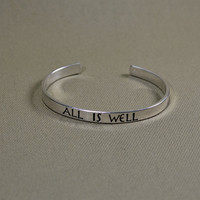 Sterling Silver &quot;All is Well&quot; Bracelet