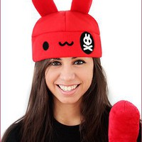 Pirate Bunny Fleece Hat