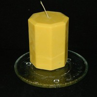 Cool Refreshing Peppermint Patty Scented Handmade Pillar Candle Yellow