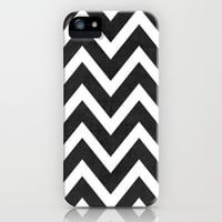 black chevron iPhone & iPod Case by her art