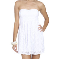 Bow Back Lace Tube Dress | Shop Dresses at Wet Seal