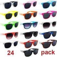 Lot of 24 Nerd Glasses Dark and Clear Lenses Buddy Holly Wayfarer:Amazon:Clothing