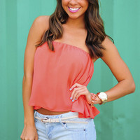 Set For Summer Crop Top: Coral | Hope&#x27;s