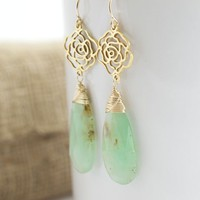 Chrysoprase With Roses