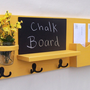 Mail Organizer - Chalkboard Mail Organizer - Chalkboard - Mail Holder - Letter Holder - Jar Vase - Organizer - Coat Rack - Wood