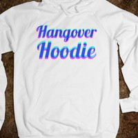 Hangover Hoodie (pink and blue) - The Spot - Skreened T-shirts, Organic Shirts, Hoodies, Kids Tees, Baby One-Pieces and Tote Bags