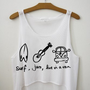 Surf, Jam, Live in a Van Crop Top | fresh-tops.com