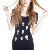 Til The Day I Die Skull Bodycon Dress - Jawbreaking
