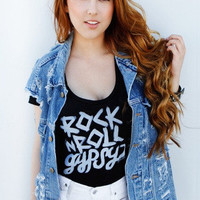 Rock N Roll Gypsy Flowy T-Shirt - Jawbreaking