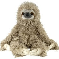 stuffed animal plush 12&quot; THREE TOED SLOTH cuddlekins CK