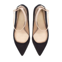 HIGH HEEL COURT SHOE WITH ANKLE STRAP - Shoes - Woman - ZARA United States