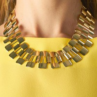 Gold Linked Choker Necklace