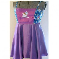 Open Back Chemise OOAK Fairy Flirty Top with Purple/Pink/Blue Color C | DiscordThreads - Clothing on ArtFire