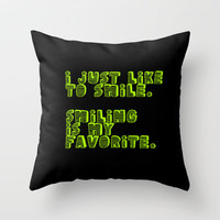 Smiling is My Favorite Throw Pillow by TheLeb