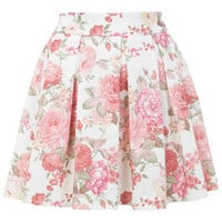 Floral Print Skater Skirt - View All  - New In