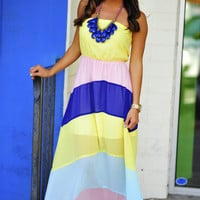 Pastel Class Maxi Dress: Multi | Hope&#x27;s