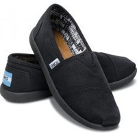 Black Canvas Youth Classics | TOMS.com