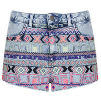 MOTO Acid Aztec Hotpant