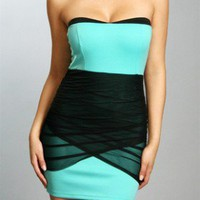 The Black & Mint Evening Dress - 29 N Under