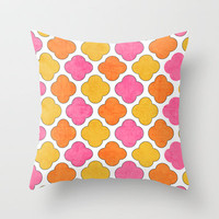 summer clover Throw Pillow by her art