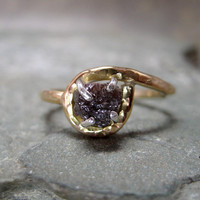 Rough Diamond and 14K Gold Filled Ring Artisan by ASecondTime