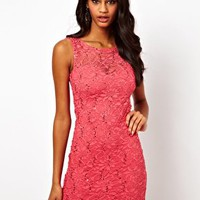 Lipsy Lace and Sequin Dress at asos.com