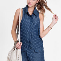 Homesick Polka Dot Shirt Dress By One Teaspoon - $110.00 : ThreadSence, Women's Indie & Bohemian Clothing, Dresses, & Accessories