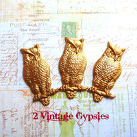 Brass Owl Stampings