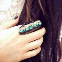 Turquoise Teardrop Stone Ring from Lockie &amp; Lulu