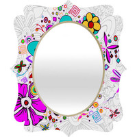 DENY Designs Home Accessories | Madart Inc. Floral Dragonfly Design Quatrefoil Mirror