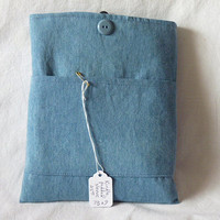 Kindle/Nook Touch Light Denim Padded Sleeve with by debbitucci